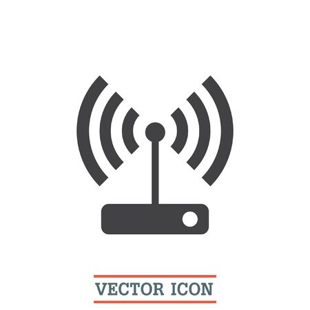 WI FI Vector Icon. Wireless Internet Sign. Wlan Symbol Royalty Free ...