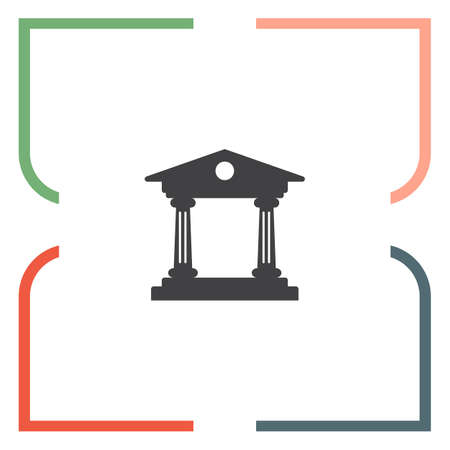 judicial: Institution vector icon. Government building sign. University symbol Illustration