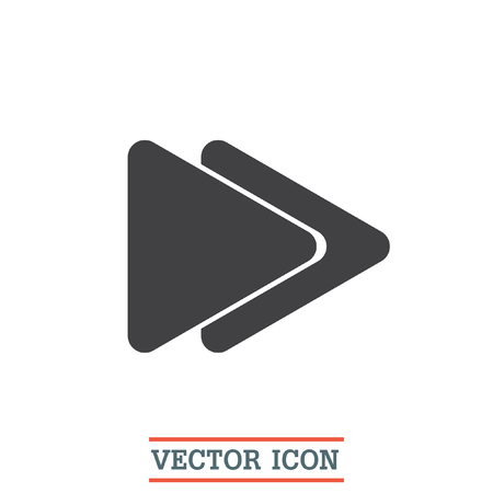 fast computer: Fast Forward button vector icon. Next song sign. Change song symbol