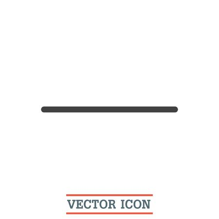 negative: Minus sign line vector icon. Negative symbol.