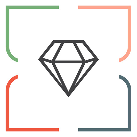 is expensive: Diamond vector icon. Expensive jewerly symbol. Luxury symbol.