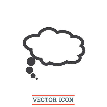 speech ballons: Speech bubble icon. Idea ballons sign. Dialog symbol Illustration