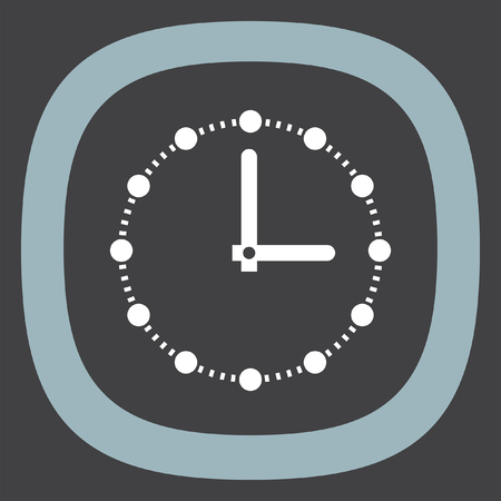 ticker: Clock with dots vector icon. Time shower sign. Ticker symbol.
