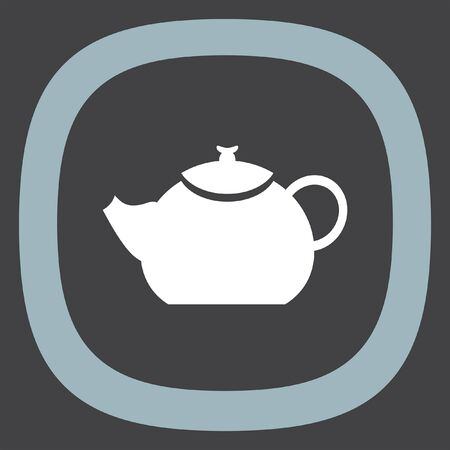 creamer: Teapot vector icon. Hot drink sign. Kitchen kettle symbol
