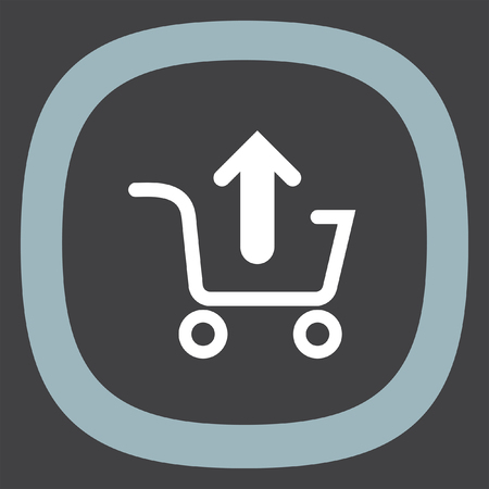 on line shopping: Remove from shopping basket vector icon. On line shopping symbol. Illustration