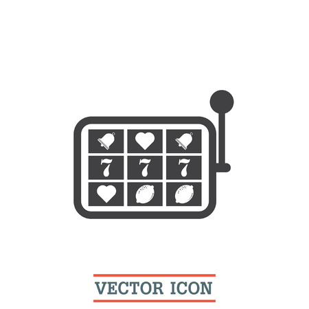 fortune: Slot machine vector icon. Casino sign. Fortune games symbol Illustration
