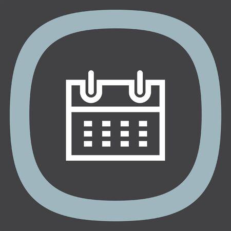reminder: Calendar sign line vector icon. Organizer sign. Office reminder symbol.