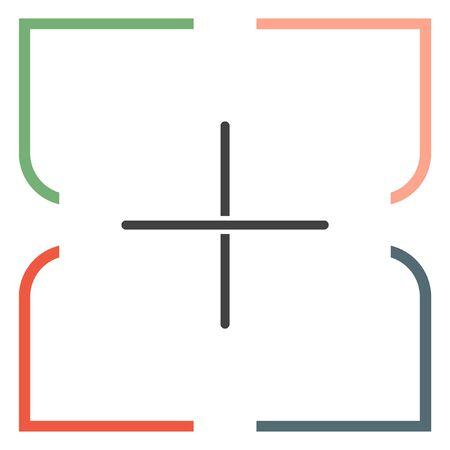 plus sign: Plus sign line vector icon. Add UI symbol.