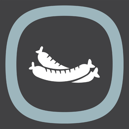 wurst: Sausage vector icon. Hot dog sign. Wurst symbol