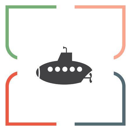 periscope: Submarine vector icon. Persicope sign. Water explorationg symbol Illustration
