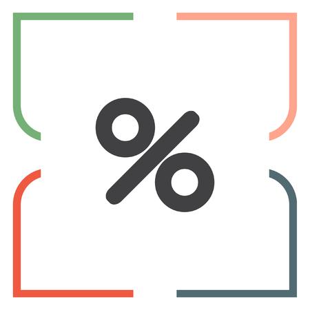 percentage sign: Percent sign vector icon. Percentage sign. Discount label symbol Illustration