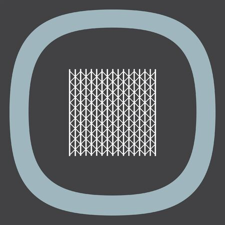 symbol fence: Metal fence vector icon. Iron gater. Steel security entrance symbol