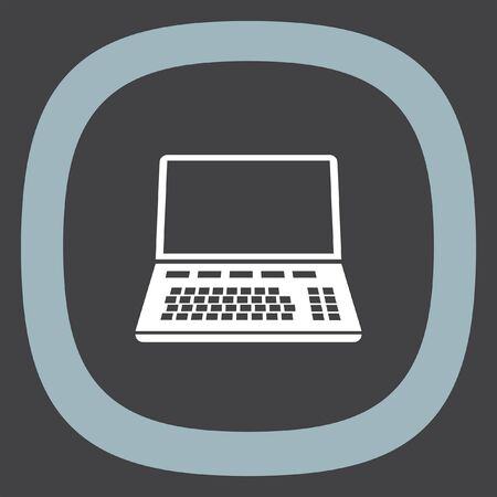 lap top: Lap top vector icon. Coumouter sign. Personal computer symbol Illustration