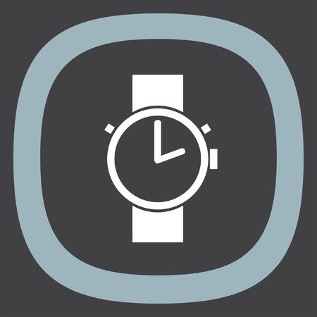 wrist hands: Hand watch vector icon. Wristwatch sign. Time shower symbol Illustration