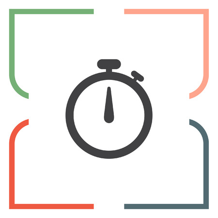 measurement: Stopwatch vector icon. Race sign. Accurate measurement of time symbol