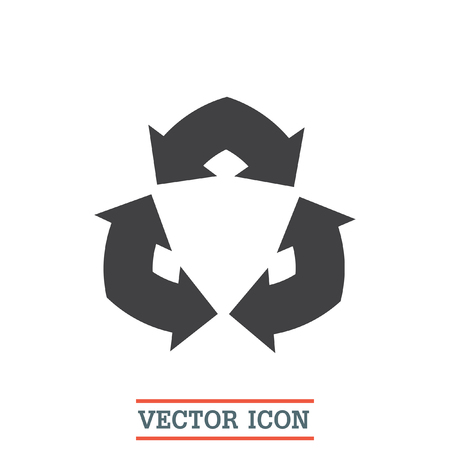 fl�che double: Double Arrow Sign vector icon. Recycle sign