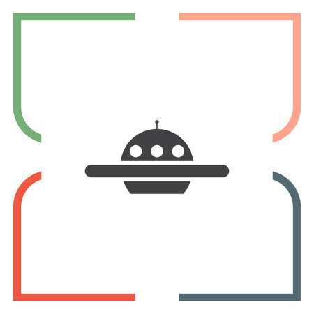 ship sign: Ufo vector icon. Alien ship sign. Spacecraft and saucer  symbol Illustration