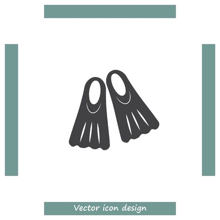 dive: Swimming fins vector icon. Diving gear sign. Undewater and ocean scuba dive symbol