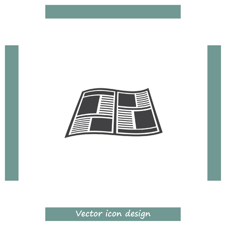 publication: Newspaper vector icon. Press sign. Publication symbol. Illustration