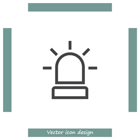 burglar alarm: Alarm line vector icon. Alert sign line icon. Emergency sign line icon.