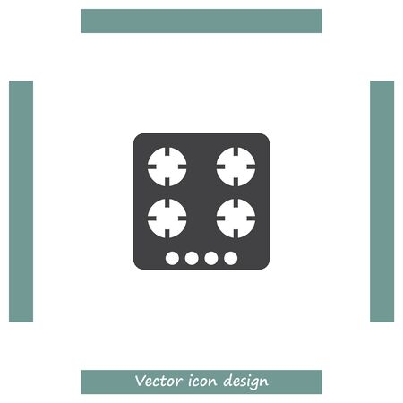 gas burners: Gas stove vector icon. Stove sign. Cooker symbol