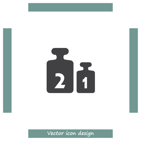 calibration: Weight for scales vector icon. Balance weight set sign. Calibration measurement symbol