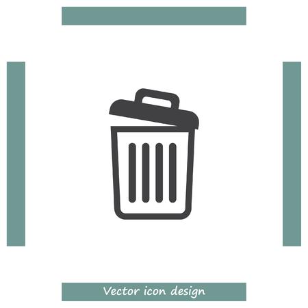 empty basket: Recycle bin icon empty. Basket sign. Garbage symbol