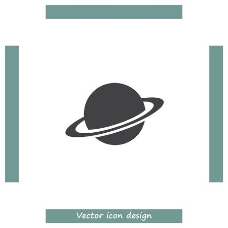 and saturn: Planet vector icon. Globe sign. Saturn symbol