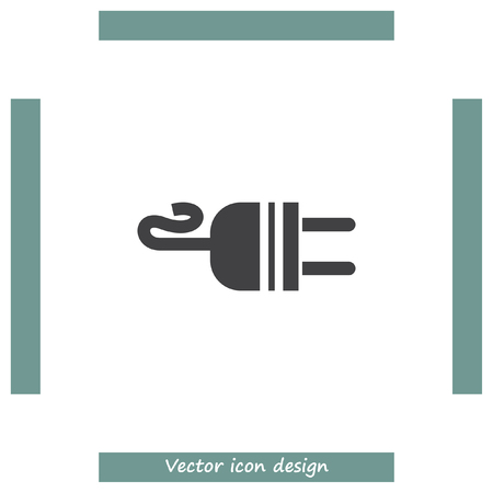 socket adapters: Electric AC Power Plug vector icon. Power sign. Outlet symbol