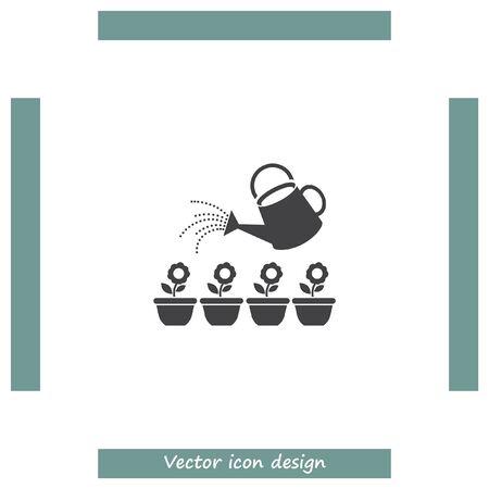 regar las plantas: Regadera del jard�n segmento de icono de vector. signo de la maceta. regar las plantas s�mbolo