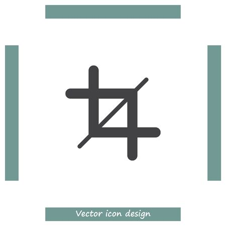 resize: Crop Sign vector icon. Resize sign. Illustration