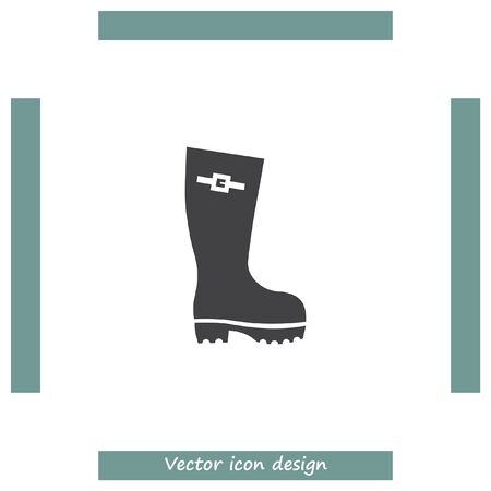 gumboots: Rain boot vector icon. Rubber footwear sign. Gumboot symbol