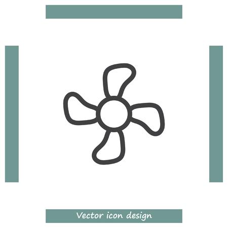 ventilation: Fan sign line vector icon. Ventilation icon. Propeller symbol. Illustration