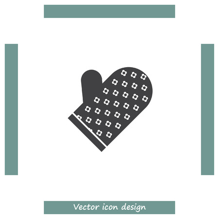 safety gloves: Baking Gloves vector icon. Cooking heat protection symbol. Home safety equipment sign. Illustration