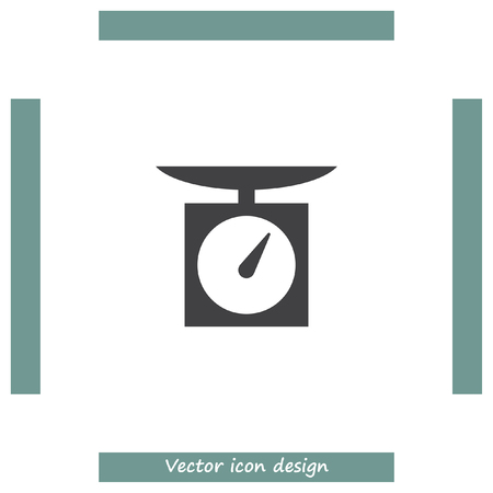 instrument of measurement: Kitchen scales vector icon. Weight measuring device sign. Measurement instrument symbol