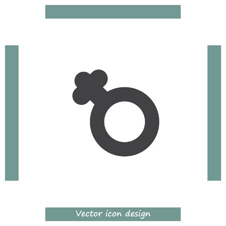 japanese currency: Female gender symbol vector icon