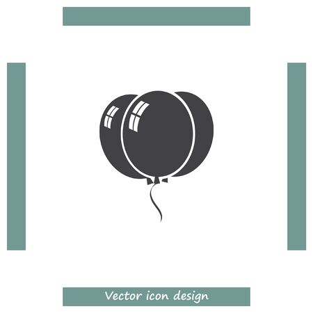 holiday party: Balloons vector icon. Birthday party celebration symbol. Holiday decoration sign. Illustration