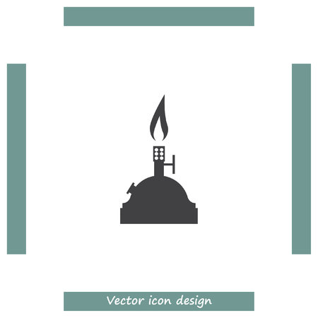 bunsen burner: Laboratory burner vector icon. Lab equipment sign. Chemistry tool symbol Illustration