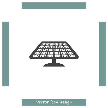 solar collector: Solar energy panel vector icon. Power collector sign. Sun energy concept symbol Illustration
