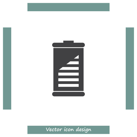 fuel and power generation: Battery vector icon. Energy power sign. Electricity charge symbol. Illustration