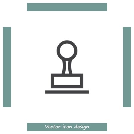 imprints: Stamp sign line vector icon. Cachet symbol. Signet icon. Illustration