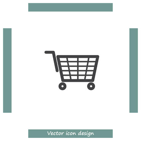 shopping chart: Shopping chart vector icon. On line shop symbol. Illustration