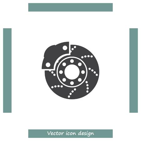 spare part: Car brakes vector icon. Vehicle repair service sign. Automobile part shop symbol. Illustration