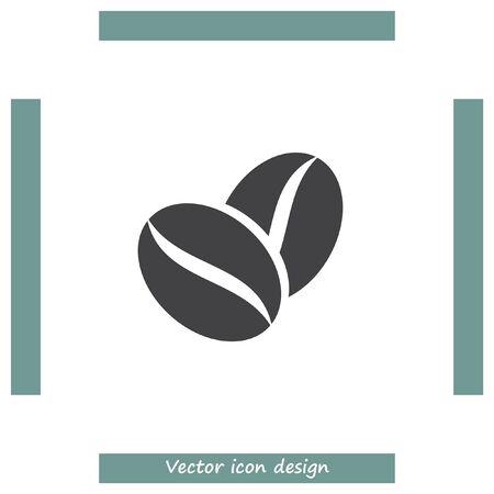palmtop: Coffee Bean vector icon. Aromatic drink symbol.