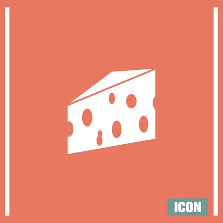 porous: Cheese vector icon. Milk product sign. Cheddar symbol.