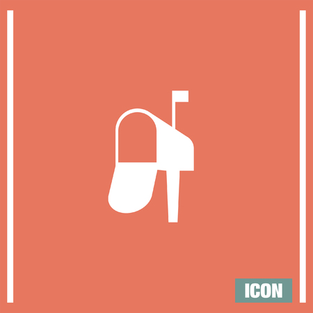 postbox: Mailbox vector icon. Mail sign. Postbox symbol Illustration