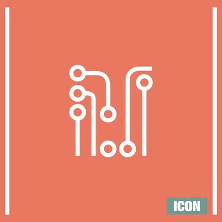 Circuit Board vector icon. Solder sign. Electric wires symbol. Digital hardware symbol.
