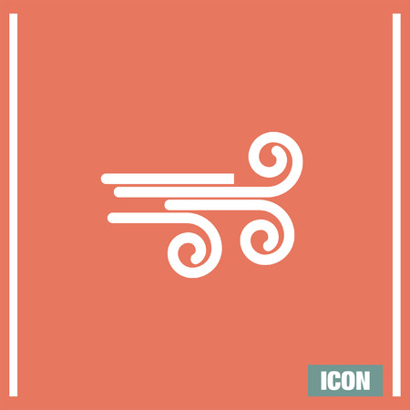 air flow: Wind vector icon. Wave sign. Air flow symbol