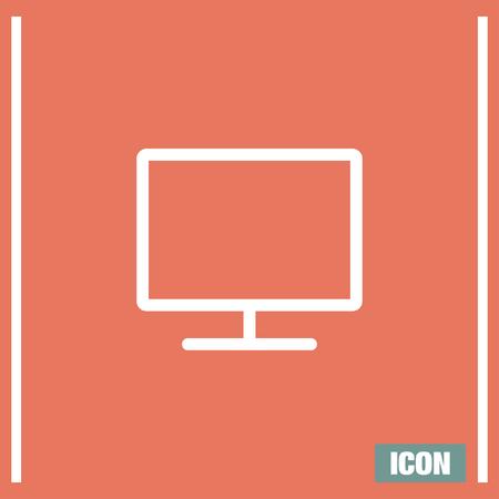 pc monitor: Monitor vector icon. PC screen icon. PC monitor symbol. Led TV sign. Wide screen display symbol.