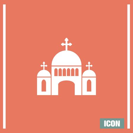 chapel: Church vector icon. Monastery sign. Temple symbol. Religious building icon. Illustration